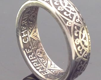 Morocco 25 Centimes Coin Ring (1921-1924)