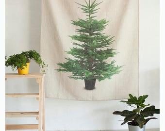 Custom order linen wall tapestry - 57x40in - Tapestry - Boho - Linen Wall hanging - Home decor - Wall decor - studio decor