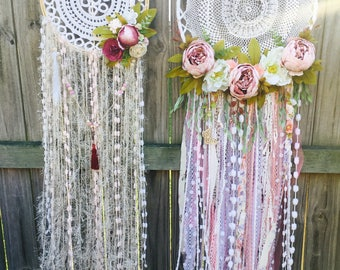 Custom; one of a kind dream catchers and decor pieces