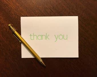 Thank you Card - Light Green