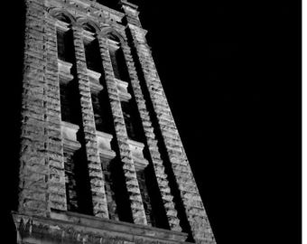 Building, outdoors, black white, city, night, home decor, atmosphere, picture, living, Western North Carolina, capture, stone