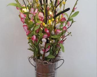 Lighted Spring Boquet Silk