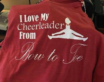 Cheerleader Bow to Toe T shirt