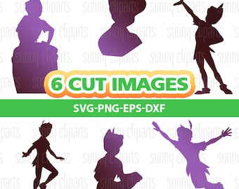 Peter Pan Svg, Peter Pan Clipart, Peter Pan Decal, Monogram Decal Svg, Svg Files For Cricut Monogram, Cuttable Files, Silhouette Cameo, Eps