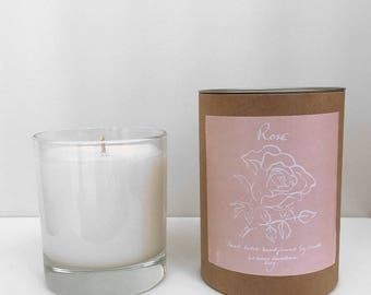 Scented Candle in Rose