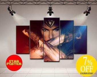 Wonder Woman canvas, DC canvas, Wonder Woman art, DC comics wall art, Wonder Woman print, Wonder Woman custom, DC art, Wonder Woman artwork