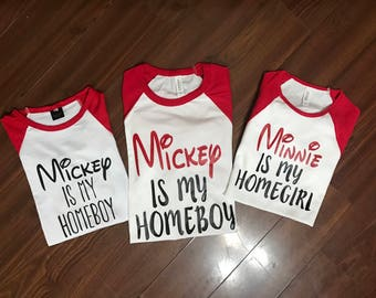 Minnie is my homegirl - disney trip, Mom shirt, dad shirt mickey shirt,  disney shirt, boy shirt, girl shirt