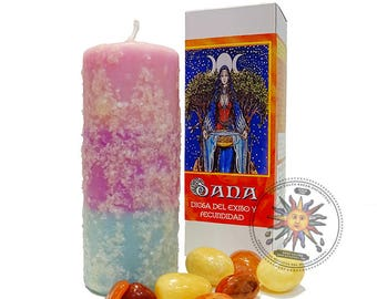 Celtic goddess Dana - good luck and success candle