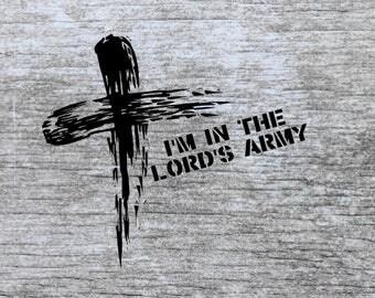 christian svg | svg files | svg cut files | scripture svg | christian kids svg | lord's army svg