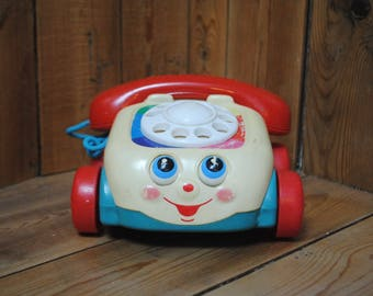 phone children fisherprice vintage Fisher Price Chatter phone