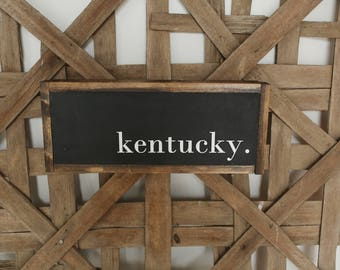 one-word sign - ky