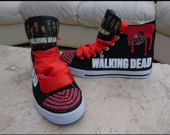 Custom Design High Low Tops Personalised Sneakers Chucks Kids Trainers Walking Dead Shoes