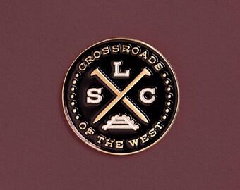 SLC Crossroads Enamel Pin
