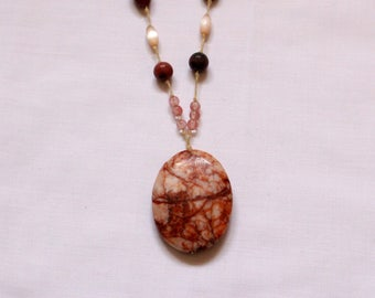 Necklace 'Rose Stone'