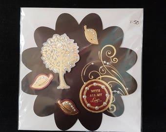 Handmade Jewelled Topper Greetings Card
