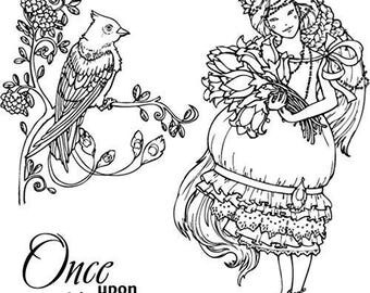 """Scrapberry'S Fairy Tale Clear Stamps 4""""X4""""-Once Upon A Time"""