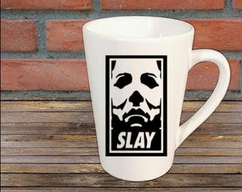 Michael Myers Halloween Slay Zombie Horror Mug Coffee Cup Gift Home Decor Kitchen Bar Gift for Her Him