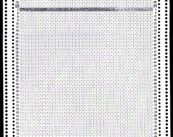 40 Stitch Knitting Machine Blank Punchcard for PASSAP Knitting Machine punch card