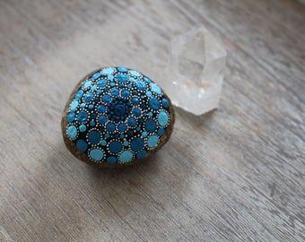 Mandala stone turquoise blue