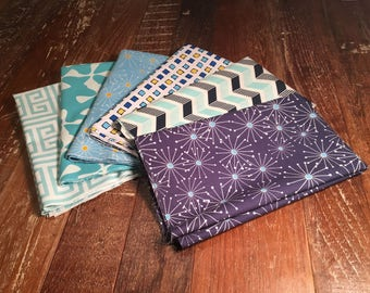 Half Yard Bundle in Premium Designer Fabrics - Blue