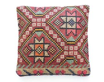 "Kilim rug pillow cover 20""x20"" (50x50cm) 028"