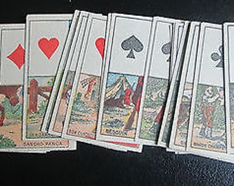 Rare Fortune Telling Cards 19th Century C.1885 J. David Partial 29/32 Impeccable