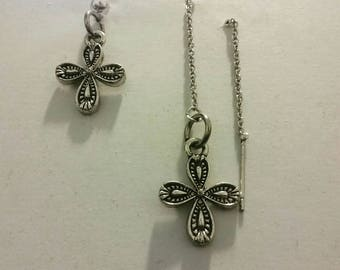 Cute threader and post earring set