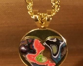 Heart Charm Bracelet - Gold Chain