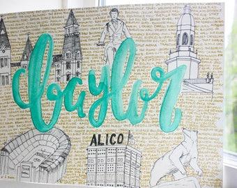 Customizable College Memories Watercolor