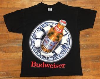 Budweiser 3D Graphic T Shirt