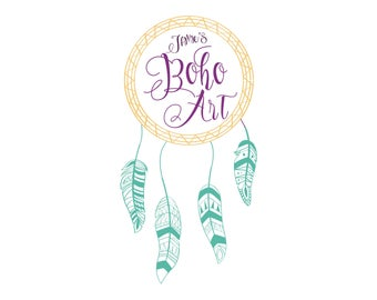 Dream Catcher Logo, Boho Logo, Bohemian Logo Design, Custom Logo Design, Business Logo, Unique Logo, Ooak Logo, Quick Turnaround Logo
