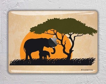 Art Animal macbook skin Painting macbook decal elephant macbook sticker safari macbook cover Africa macbook pro skin macbook air 13  FSM221