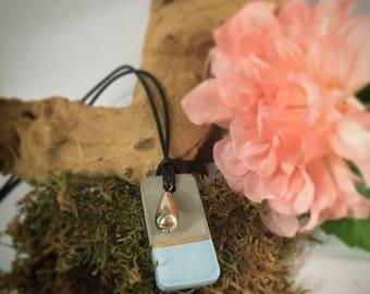 Modern concrete silicone necklace