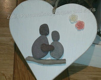 Pebble heart.. Mothers day.. wedding..