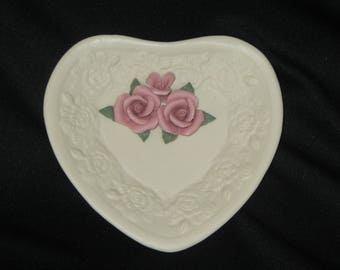 Very Sweet Vintage Porcelain Heart Dish by Estate Manor