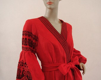 Ukrainian Embroidered Authentic Top Vyshyvanka/Вышиванка Women's dress - M/L