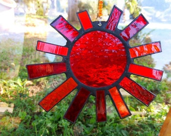 Special gift, Stained glass, Sun mobile, Sun, Handmade, Suncatcher, Hope,