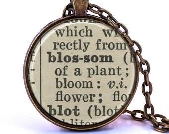 Blossom Dictionary Pendant Necklace