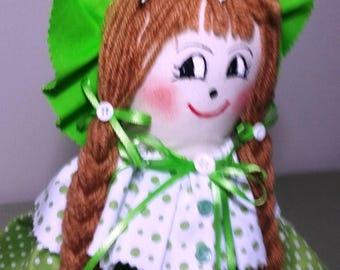 """27"""" Handmade girl rag doll."""
