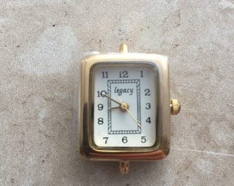 Rectangular gold watch face for beading, jewelry making