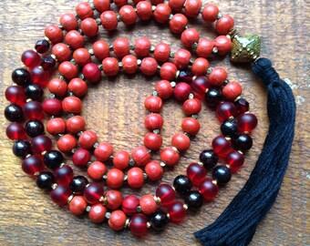 MALA beads prayer beads yoga jewelry japa beads meditation beads free shipping