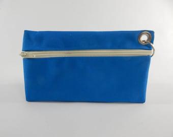 Makeup Case, Key Ring Cash Case, I phone Case,- Blue