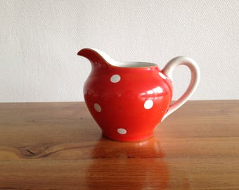 French pot red polka dots, 50's vintage