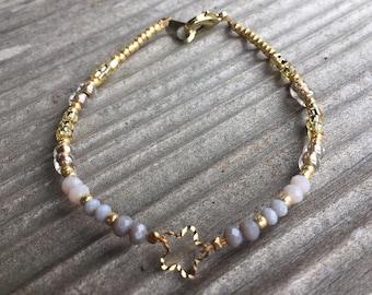 Star Charm Beaded Bracelet