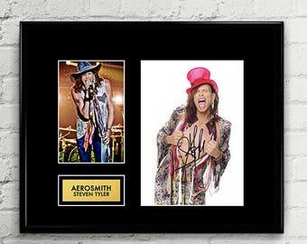 Aerosmith Steven Tyler - Autograph - Signed Poster Art Print Artwork - Grammy Billboard