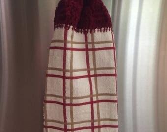 Crocheted hand towel
