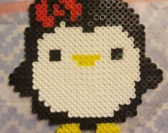 Cute perler bead penguin