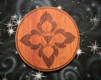 Lotus Petals of Fire and Water Wooden Stickers