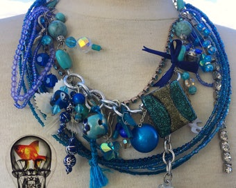 Bower Bird: Recycled Treasure Necklace
