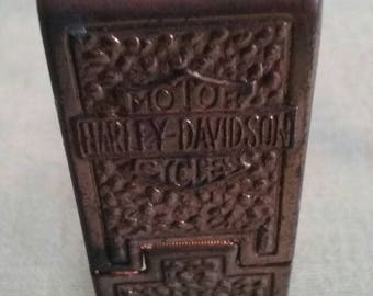 Antique Harley Davidson cigarette pack accessory